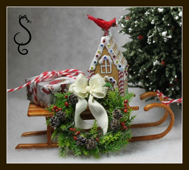 Sled with wreath
