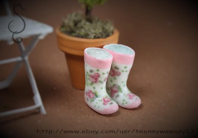 Miniature Rubber Boots - teensyweensybaby